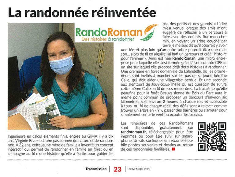 Article journal GIMA a propos randoroman